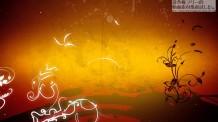 【Motion Background素材】オレンジ色のFlourish
