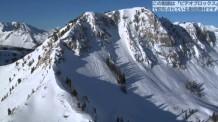 【動画素材】雪山の空撮映像
